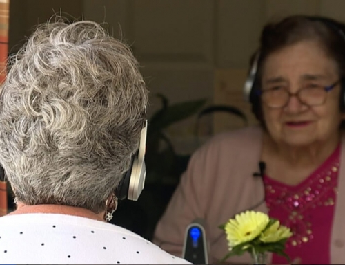 Families use wireless technology to help with safe visits at senior care facilities